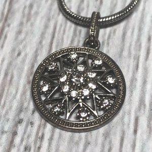 torrid Jewelry - Silver Medallion Star Sparkle Necklace 101